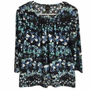 Worthington Floral Dress Top Size Medium EUC